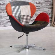 Кресло Сван, основание металл, ткань, пэчворк, фото 2