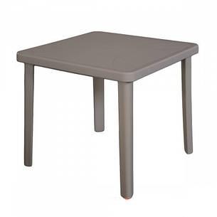 Стол Nettuno 80х80 пластик тауп, фото 2