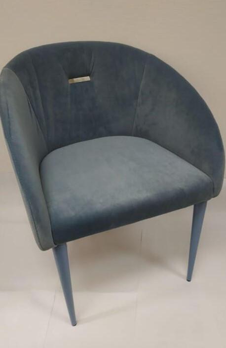 Кресло ELBE (58*59*75 cm текстиль) голубой