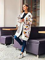 Стильный вязаный свитер -кардиган