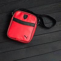 Мессенджер PUMA FERRARI, барсетка ПУМА, сумка через плечо, цвет красный