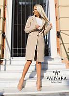 Пальто женское на подкладке бежевое