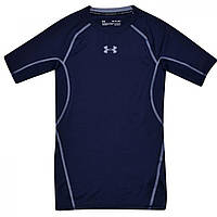 Термобелье Under Armour HeatGear Short Sleeve T Shirt Navy/Steel - Оригинал