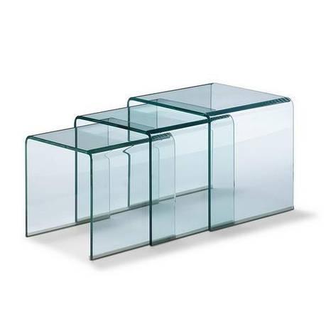 Стол журнальный ВУЛКАНО, стеклянный, комплект из 3 столов, фото 2