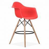 Кресло барное Тауэр Вуд Eames красный