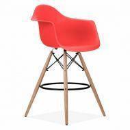 Кресло барное Тауэр Вуд Eames красный, фото 2