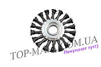 Щетка дисковая Intertool - 150 мм, плетеная