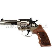 """Револьвер под патрон флобера, нарезной Alfa 441 (4.5"""", 4.0mm), никель-дерево"""