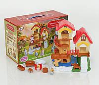 """Лесной домик """"Счастливая семья"""" 1508, 2 фигурки, с мебелью"""