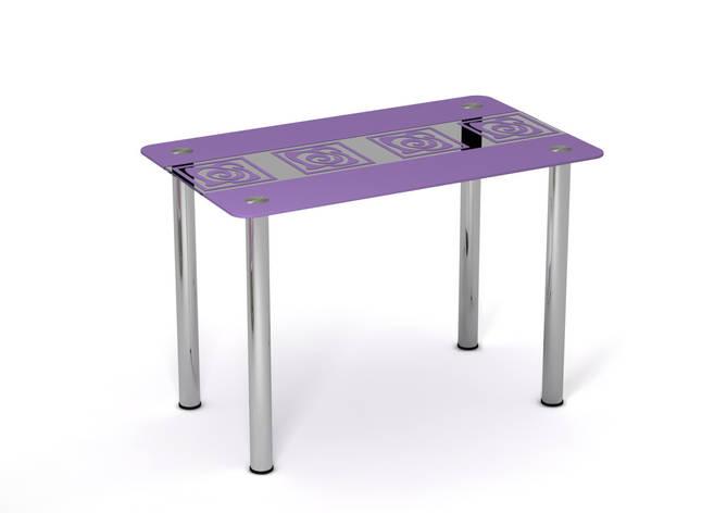 Стеклянный стол Виолетта Сиреневый рисунок, фото 2