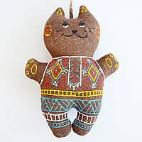 Кофейный котенок в синих штанишках. Украинский сувенир.