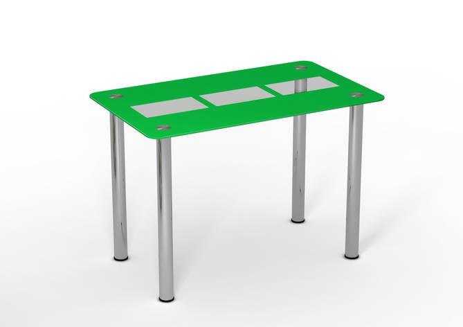 Стеклянный стол Трио грин Салатовый  рисунок, фото 2
