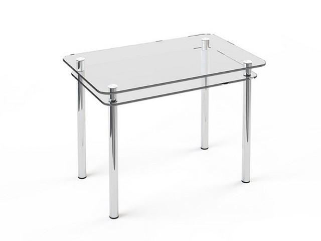 Стеклянный двухполочный стол Кристалл