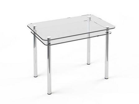 Стеклянный двухполочный стол Кристалл, фото 2