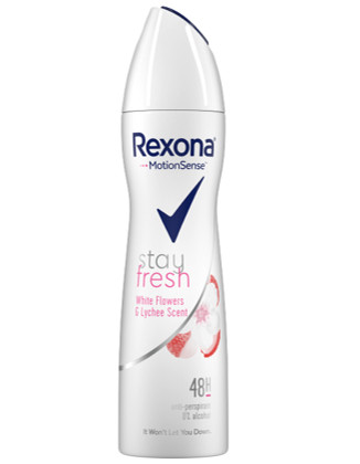 Дезодорант Rexona Белые Цветы и Личи спрей для женщин, 150 мл