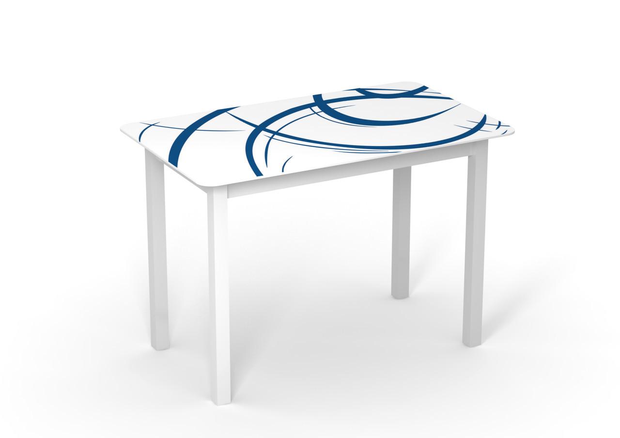 Стеклянный стол Монарх Мегаполис на деревянных ножках