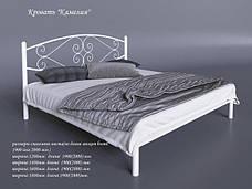 Металлическая кровать Камелия 1200 мм. х 1900 мм./2000 мм., фото 2