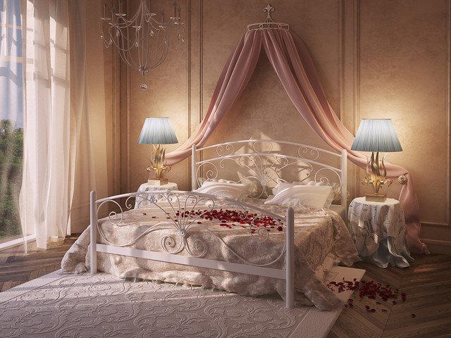 Металлическая кровать двуспальная Дармера