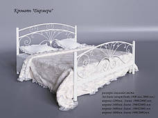 Металлическая кровать двуспальная Дармера, фото 2