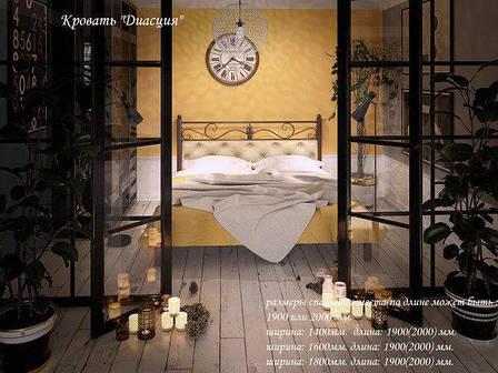Металлическая кровать двуспальная Диасция, фото 2