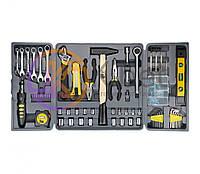 Набор инструмента 'Всё для дома' Topex, 135шт (38D215), головка 3/8'' - 9-17 мм, головка 1/4'' - 4-12 мм, ключи рожковые - 8-15 мм, универсальная