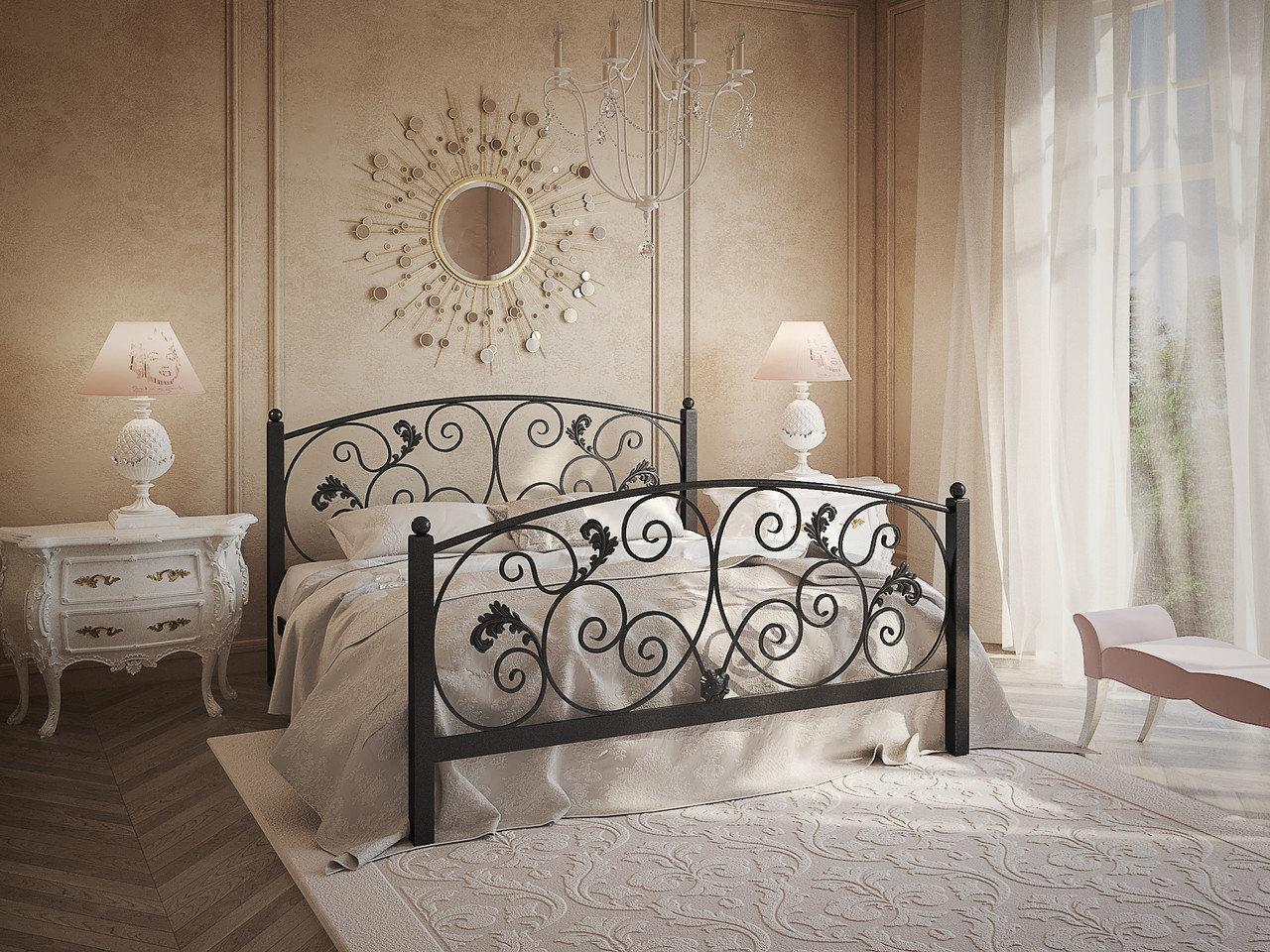Металлическая двуспальная кровать Магнолия