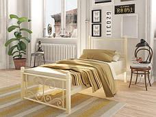 Металлическая кровать Нарцис (мини) на деревянных ножках, фото 3