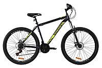 """Гірський велосипед ST 27.5"""" Discovery TREK AM DD 2020 (сіро-жовтий (м))"""