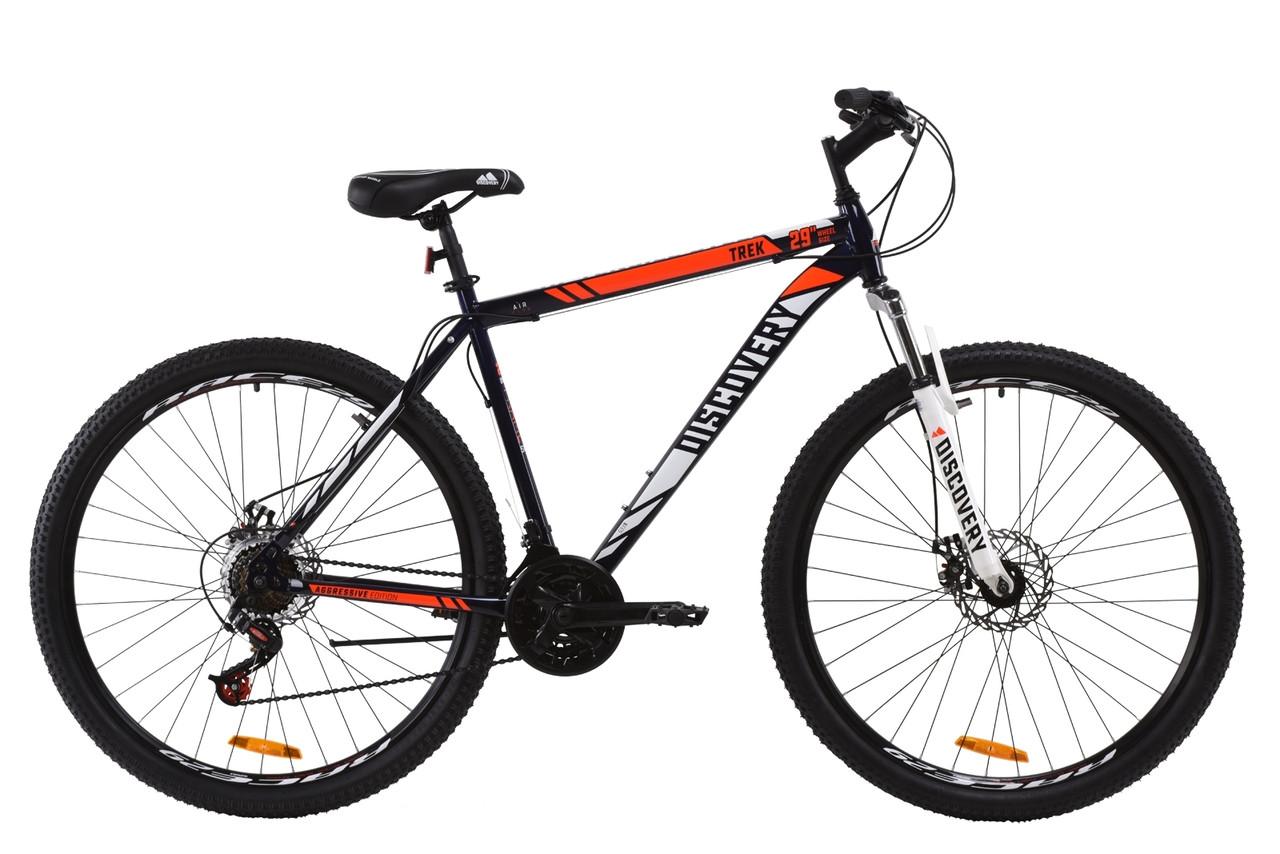 """Горный велосипед ST 29"""" Discovery TREK AM DD 2020 (сине-оранжевый )"""