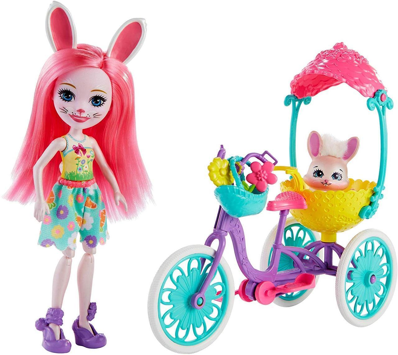 Энчантималс Enchantimals Зайка Бри Банни Прогулка на велосипеде  Pedal Pals Bree Bunny