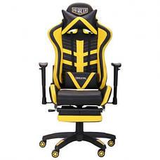 Кресло VR Racer BattleBee черный/желтый, фото 3
