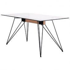 Стол обеденный Каттани черный/стекло прозрачное, фото 2
