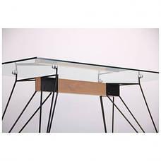 Стол обеденный Каттани черный/стекло прозрачное, фото 3
