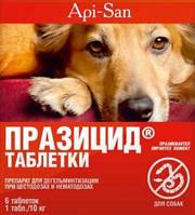 ПРАЗИЦИД для собак, ( 6т., в уп. ) Апи-Сан, Россия