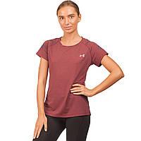 Компрессионная женская футболка с коротким рукавом Under Armour (бордовый)