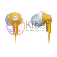 Навушники Panasonic RP-HJE118GU-Y Yellow, Mini jack (3.5 мм), вакуумні, шнур 1,1 м