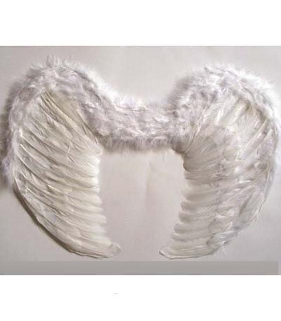 Крылья Ангела из перьев белые 45х34 см