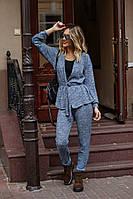 Женский стильный костюм вязка хорошего качества