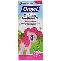 Orajel, Зубная паста My Little Pony Training, не содержит фтора, имеет розовый цвет, фруктовый вкус, 1,5 унц. (42,5 г)