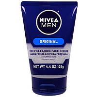 Nivea, Мужской скраб для лица, глубокая очистка, оригинал, 125 г (4,4 унции)