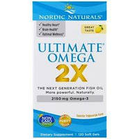 Nordic Naturals, Ultimate Omega 2X, 2150 мг, 120 капсул,