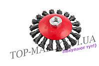 Щетка конусная Mastertool - 115 мм, плетеная