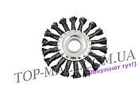 Щетка дисковая Mastertool - 125 мм, плетеная