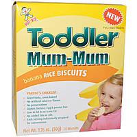 Hot Kid, Toddler Mum-Mum, бананово-рисовое печенье, 20 печений, 1,76 унции (50 г)