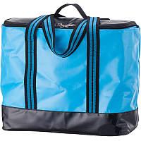 2 в 1 - термосумка + сумка-чехол КЕМПИНГ Ultra (17л), голубой/черный
