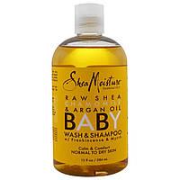 Shea Moisture, Детское мыло и шампунь, с маслом босвеллия и с миррой, 13 жид.унц. (384 мл)