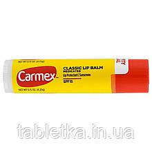 Carmex, Классический бальзам для губ, фактор защиты от солнца 15 с лечебным действием, 0,15 унции (4,25 г)