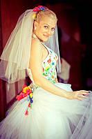 Марина, м.Київ. Весільна сукня в українському стилі
