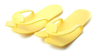 Тапочки-вьетнамки, желтые, 12 пар