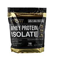 California Gold Nutrition, Растворимый изолят сывороточного белка, очень низкое содержание лактозы, без ароматизаторов, 75 порций, 5 фунтов, 80,1
